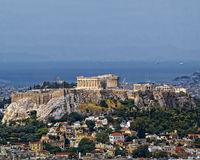 Parthenon on Athenian Acropolis, Greece Royalty Free Stock Images