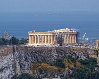 Parthenon on Athenian Acropolis, Greece Royalty Free Stock Photo