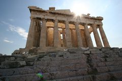 Parthenon in Athens royalty free stock photography