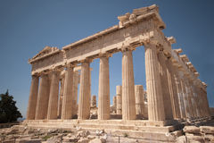 Parthenon in Athens. The Athenian Parthenon, a classical and famous ancient Greek structure Royalty Free Stock Image