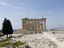 The Parthenon in Athens. Greece royalty free stock photos