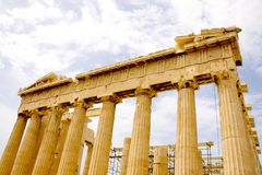 The Parthenon, in Athens Akropolis, Greece Royalty Free Stock Photos