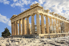 The Parthenon of Athens. The Parthenon is a former temple on the Athenian Acropolis, Greece Stock Images