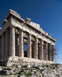 The Parthenon of Athens, Greece. Dramatic wide angle view of the Parthenon Royalty Free Stock Photos