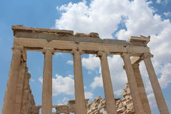 Parthenon, Athens. Monuments national Greece. Columns - Parthenon,  Acropolis Athens Stock Photo