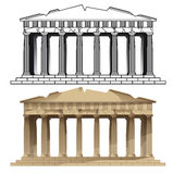 Parthenon, Athens. Vectors of Europeans monuments Royalty Free Stock Photos