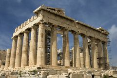 The Parthenon atop Acropolis Royalty Free Stock Images