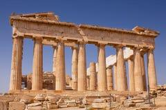 Parthenon auf der Akropolise in Athen, Griechenland stockfotografie