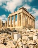 Parthenon auf der Akropolise in Athen, Griechenland Stockfoto