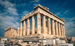 Parthenon auf der Akropolise von Athen, Griechenland Lizenzfreie Stockfotografie