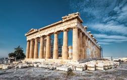 Parthenon auf der Akropolise von Athen, Griechenland Stockbilder