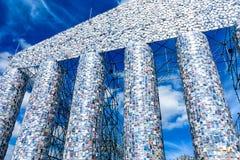 Parthenon av böckerna, documenta 14 - konsttemplet på Friedrichsplatzen i Kassel, Tyskland Fotografering för Bildbyråer