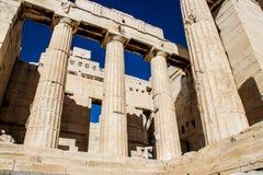 Parthenon beroemde oude tempel in Athene stock foto's