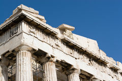 Parthenon bij Akropolis Stock Foto