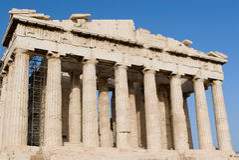 Parthenon bij Akropolis, Athene Royalty-vrije Stock Afbeeldingen