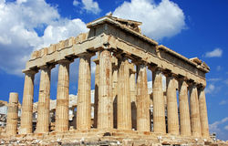Parthenon budynek na górze Acropole w Ateny, Grecja Zdjęcie Stock