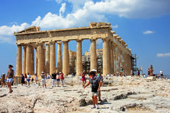 Parthenon building on top of the Acropole, in Athens, Greece Stock Images
