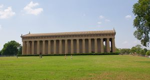 The Parthenon in Centennial Park, Nashville TN Royalty Free Stock Images