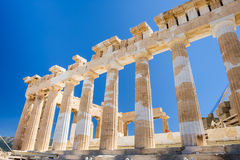 Parthenon columns at sky background Royalty Free Stock Images