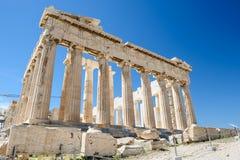 Parthenon columns at sky background Stock Photos