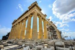 Parthenon con el andamio de la construcción Imagenes de archivo