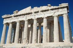 Parthenon contro un cielo blu Immagini Stock Libere da Diritti
