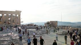 Parthenon de la acrópolis almacen de metraje de vídeo