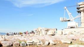 Parthenon de la acrópolis metrajes
