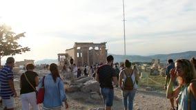 Parthenon de la acrópolis almacen de video