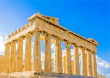 Parthenon de la acrópolis Fotografía de archivo