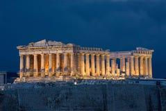 Parthenon de la acrópolis de Atenas imágenes de archivo libres de regalías