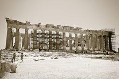 Parthenon de la acrópolis de Atenas Grecia Imagenes de archivo