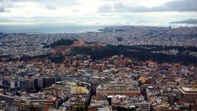 Parthenon de la ciudad de Atenas Fotos de archivo libres de regalías