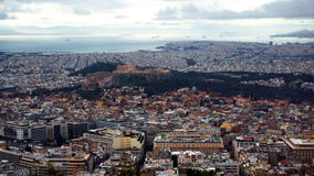 Parthenon de ville d'Athènes Photos libres de droits