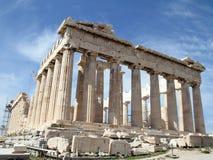 Parthenon dell'acropoli Immagine Stock