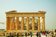 Parthenon an der Akropolise in Athen, Griechenland Stockfotos