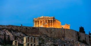 Parthenon an der Akropolise von Athen, Griechenland Stockfotos