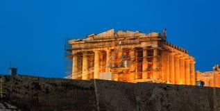 Parthenon an der Akropolise von Athen, Griechenland - Wiederherstellung arbeitet Lizenzfreie Stockfotografie