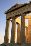 Parthenon detail at Acropolis. Athens stock photography