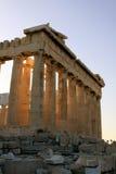 Parthenon detail at Acropolis stock image