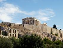 Parthenon e arcos de Herodion, Atenas Fotografia de Stock Royalty Free