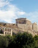 Parthenon e arcos de Herodion, Atenas Fotografia de Stock