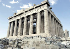Parthenon en Atenas fotos de archivo