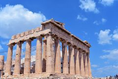 Parthenon en Atenas en Grecia fotos de archivo