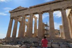 Parthenon en la acrópolis Atenas, Grecia Foto de archivo