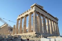 Parthenon en la acrópolis de Atenas Imagenes de archivo