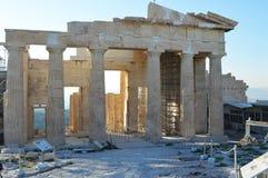 Parthenon en la opinión de la parte posterior de la acrópolis de Atenas Imagen de archivo libre de regalías