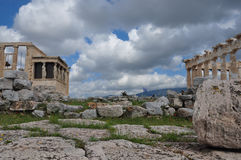 Parthenon and erechtheion Royalty Free Stock Image