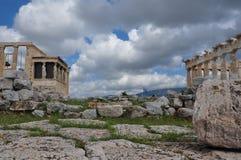 Parthenon et erechtheion image libre de droits
