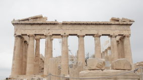 Parthenon stock video footage